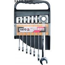 YT-0208 Ratchet Combination Wrench Set