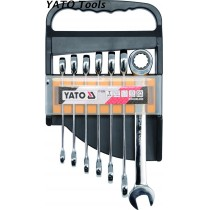YT-0208 Ratchet Combination Wrench Set
