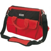 YT-7433 MATERIAL: NYLON; 6 INTERIOR POCKETS, 10 OUTSIDE POCKETS, INTERNAL WIRE, PADDED HANDLES, 405X230X210 MM