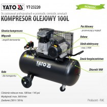 AIR COMPESSOR 3HP 100L 10BAR