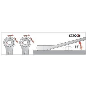 የ YATO ጥምረት ስፖንደሮች እና ስብስቦች ጥምረት SPANNER 9MM