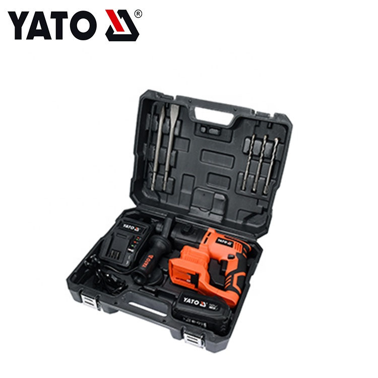 YATO 18V YT-82770 ቀላል ያልሆነ የኃይል መሣሪያዎች የሮተር ሀመር ተጽዕኖ ቁፋሮ SDS ፕላስ