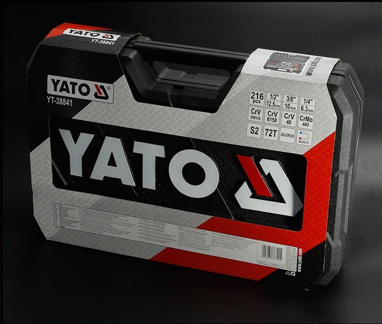 YATO ہائی گریڈ 215 پی سیز کار کی مرمت ہینڈ ٹولز ساکٹ سیٹ YT-38841
