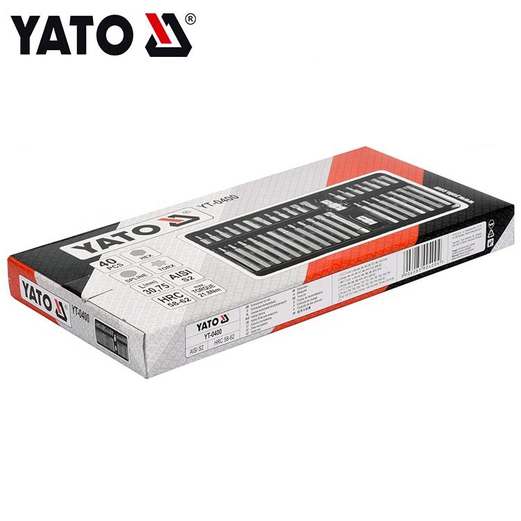 YATO Industrial Black Hot Hot Globe Versiune S2 Set 40 de șurubelnițe cu XNUMX de piese