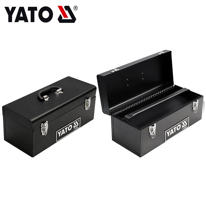 428X180X180MM Portable cantilever metal tool box with double opening lids