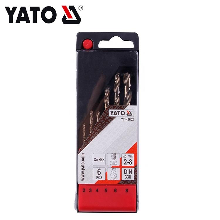 OEM Customized Logo 6Pcs CO-HSS Twist Mini Drill Bit Set 2-8MM YT-41602