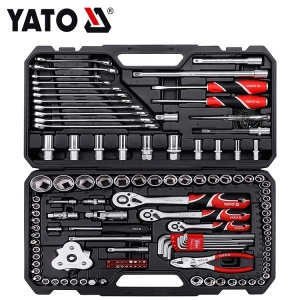 YATO INDUSTRIAL 126 Pcs Hand Tools Socket Set Open End Wrench Tool Set