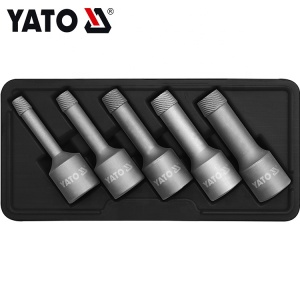 YATO 5Pcs Damaged Broken Bolt Extractor Set For Damaged Screw and Broken Bolt Remove YT-0624