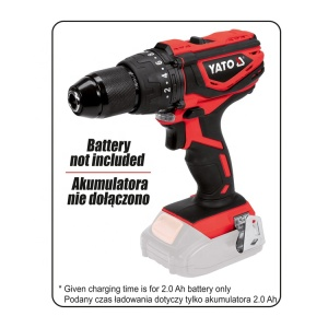 YATO YT-82789 POWER & GASOLINE TOOLS 18V CORDLESS DRILL--BODY ONLY