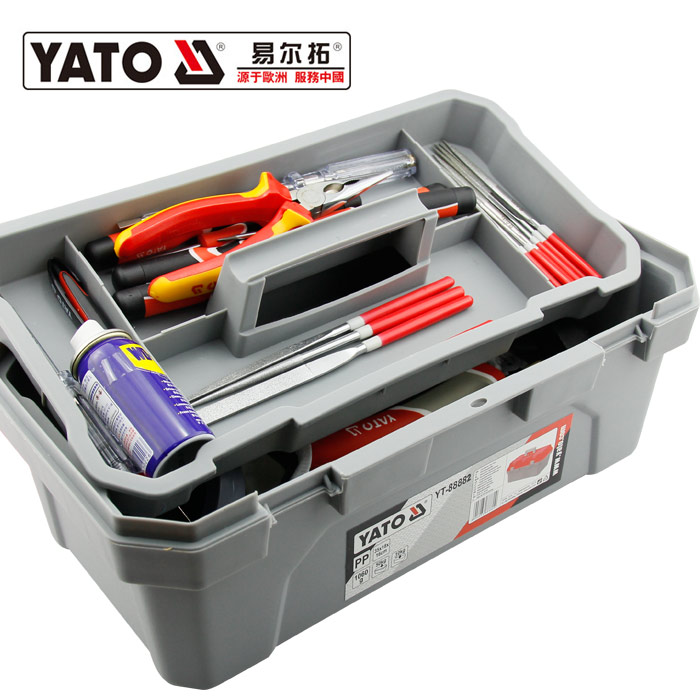 YATO YT-88882 TOOL BAG,TOOL BOX & CABINETS High Quality Big Size Plastic Tool Box