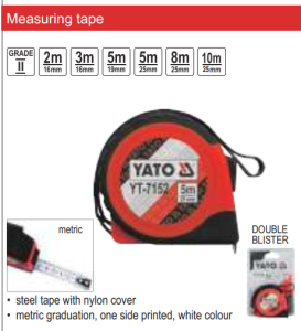 YATO MEASURING TOOLS MEASURING TAPE 8 M X 25 MM