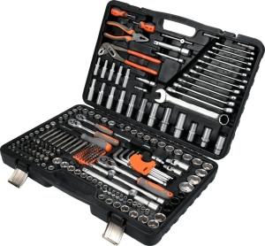 1/2 3/8 1/4 225 PCS Multifunktionsfahrzeug Werkzeugkasten Allgemeines Werkzeugset Werkzeuge Bit Set Anzug