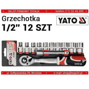 YATO 12Pcs Socket Wrench Set Multi-Function Labor-Saving Screwdriver Kit Fast Screw