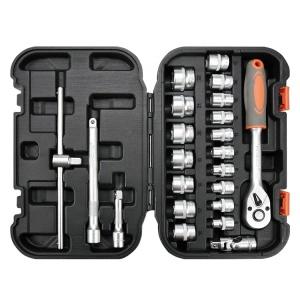 YATO 3/8 22PCS Repair Steam Protection Hand Tool Socket Set Box Automobile Service