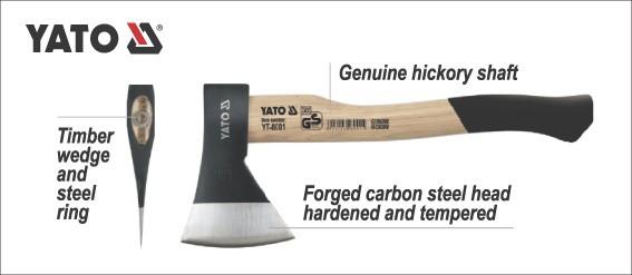 YATO Auto Tools Axe Head Handle Construction Tools Wholesale 1000G YT-8003