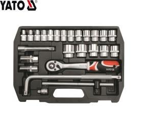 YATO Arbeitssparendes Schraubendreher-Kit Steckschlüssel-Set 25-teiliges Box-Werkzeug-Steckschlüssel-Set YT-3874