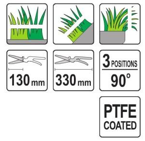 YATO YT-8851 GARDEN TOOL GRASS TRIMMER 13-1/43 POSITIONS,90