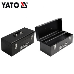 428X180X180MM PORTABLE CANTILEVER METAL TOOL BOX WITH DOUBLE OPENING LIDS YATO YT-0883