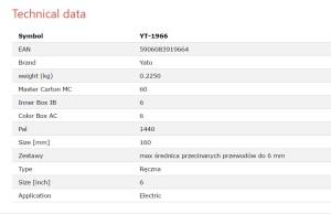 KABELSCHNEIDER DRAHTSCHNEIDER YATO YT-1966