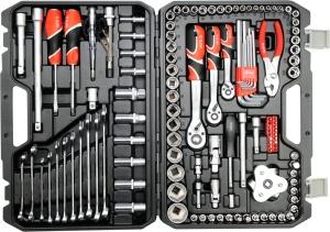 Yato 125PCS Professional Hand Tools Socket Set Multi Open End Wrench Tool Set Tool Bag Set