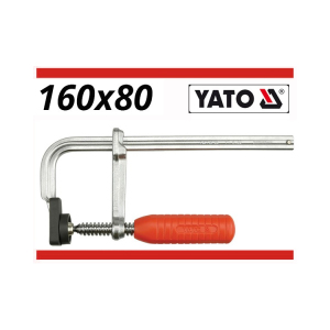 YATO China Heavy Duty Forged F Clamp 160X80Mm Chromed Carbon Auto Repairing