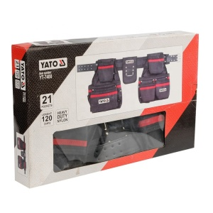 YATO Heavy Duty Nail / Tool Pouch 21 Pockets Electricians Multifunctional Maintenance Tool Belt Bag