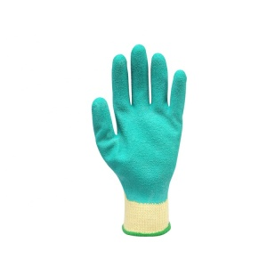 YATO Latex-Sicherheits-Arbeitshandschuh Beschichtete Baumwolle PE-Handschuhe China Anti-Schneiden-verschleißfeste elastische Handschuhe