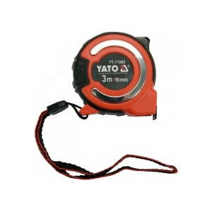 أدوات القياس YATO شريط فولاذي قياس شريط قياس مخصص 3 MX 16 مم