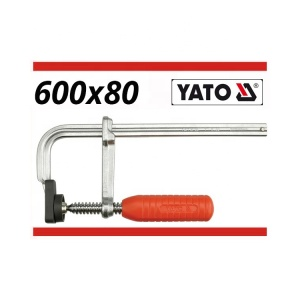 YATO Steel Cable Clamp Forged F Clamp Set Wholesale Price 600X80MM CHROMED
