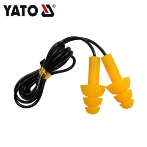 YATO YT-7456 China Safety Noise Cancelling Silicone Ear Plugs With Cord EAR PLUGS WITH CORD-50 PAIRS