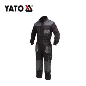 Yato Bequeme Schwarze Arbeitsuniformen Herren Arbeitskleidung Overall Langarm Arbeitsoveralls Arbeitskleidung