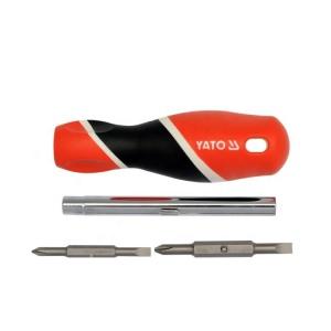 Yato Hot Sale Screw Driver Set Hand Tool Multi-Function Professional Portable Screwdriver