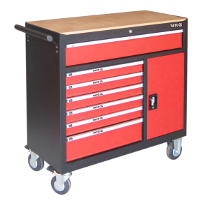 YATO NEW MODEL PROFESSIONAL CAR REPAIR  MOBILE WORKBENCH TOOL TROLLEY TOOL CABINET   YT-09141