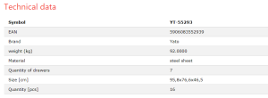 YATO WHOLESALE HAND TOOLS CAR REPAIR  TOOL CABINET TOOL TROLLEY YT-55293