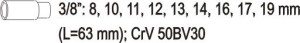 SOCKET SET TOOL SET 19PCS  3/8