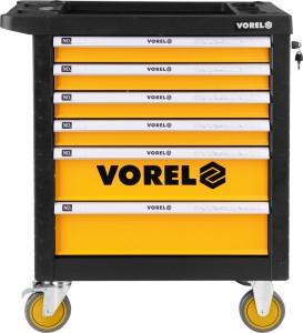 Ferramentas manuais de almacenamento de novo deseño VOREL Caixa de ferramentas para cofre de ferramentas de armario con rodillos 58539