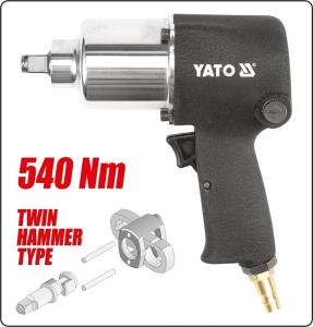 YATO HAND TOOLS PNEUMATIC TOOLS AIR WRENCH 1/2'' 540NM YT-0952