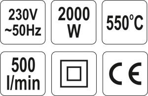 YATO HEISSLUFTPISTOLE POWER WERKZEUG YT-82288