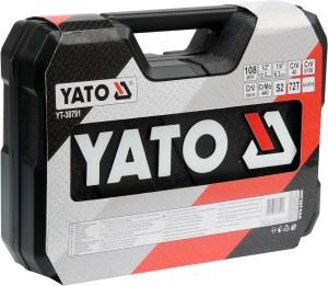 YATO Portable And Compact 108Pcs Socket Wrench Set Box Screwdriver Tool Set YT-38791