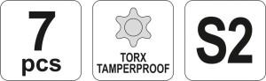 YATO WRENCH TORX KEY SET 7PCS YT-0562