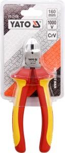 YATO YT-21158 ISOLIERTE WERKZEUGE ISOLIERTE DIAGONAL SEITENSCHNEIDZANGE 6'' 160MM