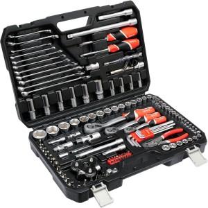 YATO YT-38875 أدوات يدوية احترافية لإصلاح السيارات الثقيلة مجموعة أدوات يدوية صناعية 125 قطعة مجموعة أدوات