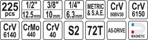 YATO YT-38941 ہینڈ ٹولس ساکٹ سیٹ انجنئیر آٹو مینٹینسی کمپرینیسیٹ سیٹ ساکٹ سیٹ 1/4
