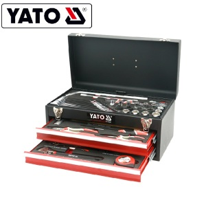 YATO YT-38952 PROFESSIONAL HOT SELLING COMPLETE TOOL BOX SET FOUR-WHEEL POSITION TOOL BOX 53PCS